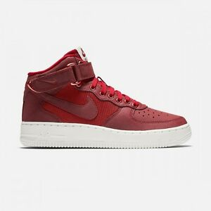 Nike Air Force 1 MID LV8 (GS) Size 6.5Y (820342-600) RED WHITE ... 43979d4ef