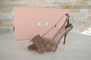 Uvp Mink New Heel Visone Sandals Gr Form 495 Coccodrillo Miu 36 € Scarpe nW4cF