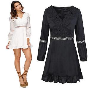 Elegantes damen sommerkleid midikleid rock v ausschnitt damenkleid d 324 neu ebay - Sommerkleid v ausschnitt ...