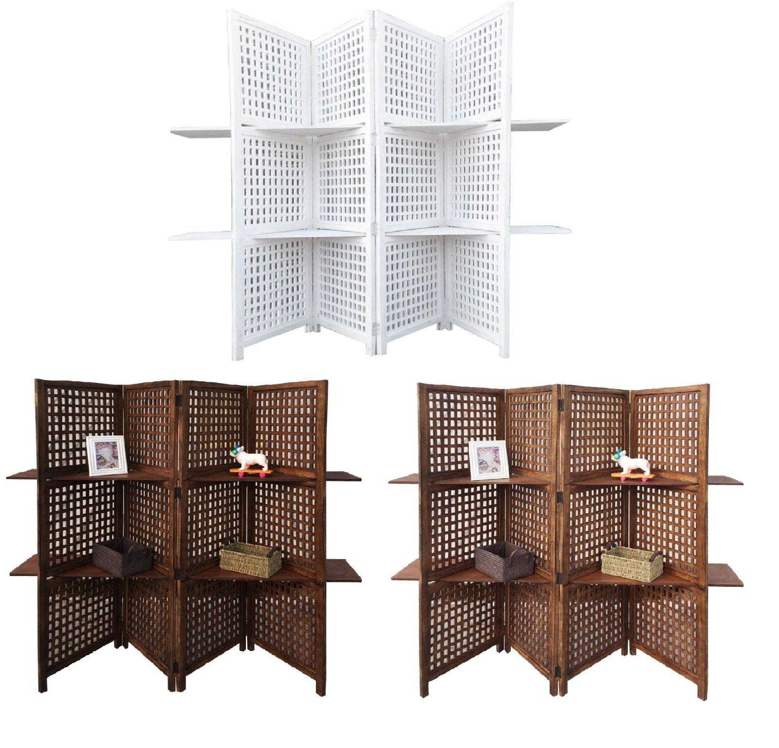 3-Way Display 4 Panel Schwerlast Indisch 2 Regale Bücherschrank Zimmer Organizer
