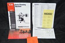 Ridgid Kollmann K 50 Drain Cleaning Machine Operating Instructions Owners Manual
