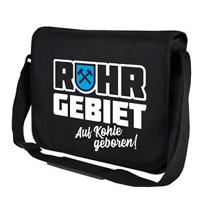 Ruhrgebiet-Auf-Kohle-geboren-Zeche-Bergbau-Bochum-Umhaengetasche-Messenger-Bag