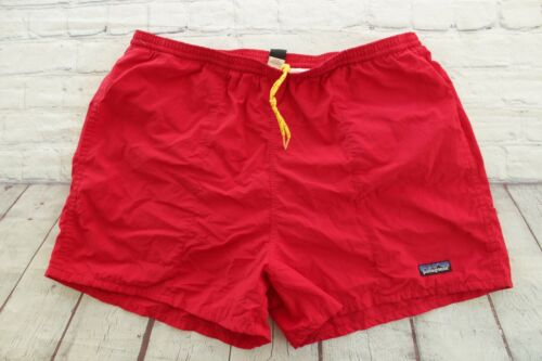 Vintage PATAGONIA Red Baggies Lined Swim Trunk Dra