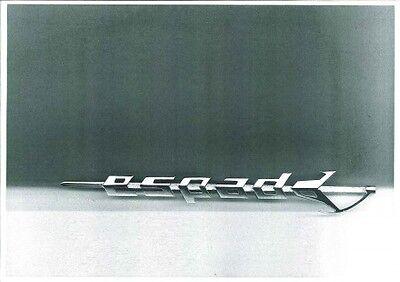 stemma scritta LAMBORGHINI URRACO 80mm cromata sign badge emblem logo
