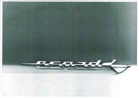stemma scritta LAMBORGHINI ESPADA SX LF 225mm cromata sign badge emblem logo