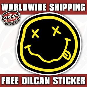 nirvana sticker 85mm x 85mm external grunge decal bumper sticker