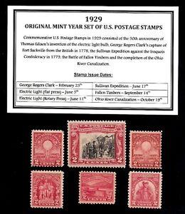 1929-YEAR-SET-OF-MINT-MNH-VINTAGE-U-S-POSTAGE-STAMPS