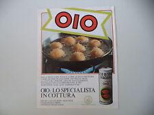 advertising Pubblicità 1982 OLIO DI SEMI OIO - GIACOMO COSTA GENOVA
