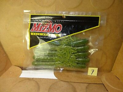 Mizmo Tubes 3.5 In Small Jaws Gr Pumpkin Copper Flake Watermelon Seed Light Tail