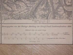 WW1 Original German Empire 1910 old map (518-0117)