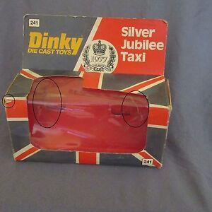 801B-Caja-vacio-Dinky-241-Silver-Jubileo-Taxi-1977