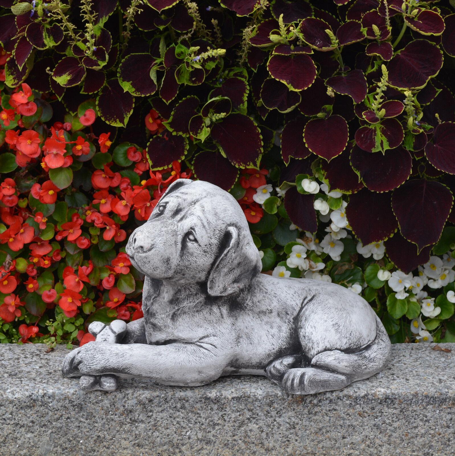 moda classica Dolce Massiccio Pietra - Labrador Cane Cane Cane in Ghisa Decorazione Stanza  distribuzione globale