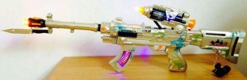 AK-47 machine gun avec lumière clignotante cuisson saine Rotary balles 65cm