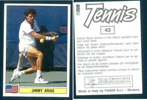 Jimmy-Arias-USA-Tennis-1992-Edizioni-Panini-MINT-n-43