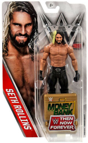 WWE SETH Rollins puis maintenant Forever Exclusive Figure Gold MITB Mallette 2016 NEUF