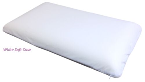 2 Queen Solid Piece Memory Foam White Bed Pillows Blue Cooling Comfort Gel Sleep