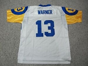 Details about KURT WARNER Unsigned Custom St. Louis White Sewn New Football Jersey Sizes S-3XL