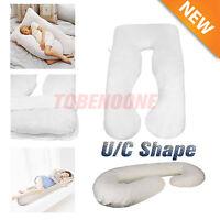 U/c Shape Total Body Pillow Pregnancy Maternity Comfort Contoured Support Sleep