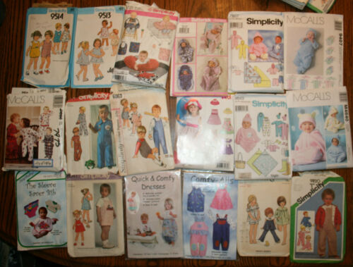 18 VINTAGE SEWING PATTERNS, CHILD CHILDREN TODDLERS BOY GIRLS 1960'S? 1970'S?