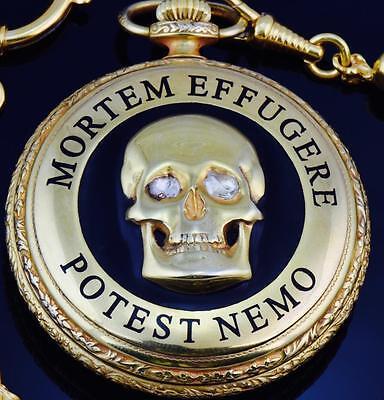 Jewelry & Watches Rare Gild,enamel&1.2ct Diamonds Patek Philippe Memento Mori Doctor's Skull Watch