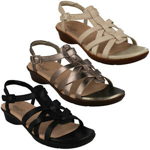 2f1a9c54aa6b Image is loading LADIES-CLARKS-LOOMIS-KATEY -BUCKLE-STRAPPY-LIGHTWEIGHT-CASUAL-