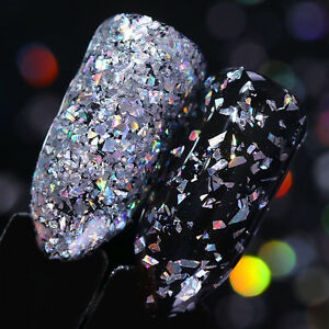 Silver-Holographic-Nail-Sequins-Powder-Nail-Glitter-Flakes-Irregular-BORN-PRETTY