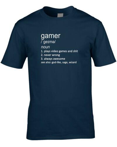 Gamer Drôle définition T-shirt Homme Idée Cadeau Jeu Cool Jeux Vidéo Console PC