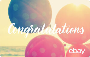 eBay Digital Gift card - Congratulations $25 $50 $100 or $200 - Email Delivery