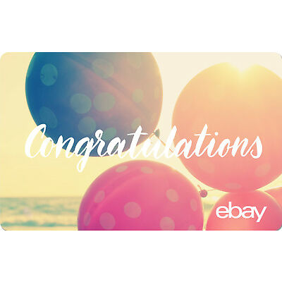 eBay eGift Card - Congratulations Balloons $25 $50 $100 or $200 - Via Email