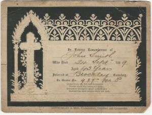 1899-Embossed-Black-amp-Cream-Mourning-Card-with-a-Cross-amp-Gothic-Design