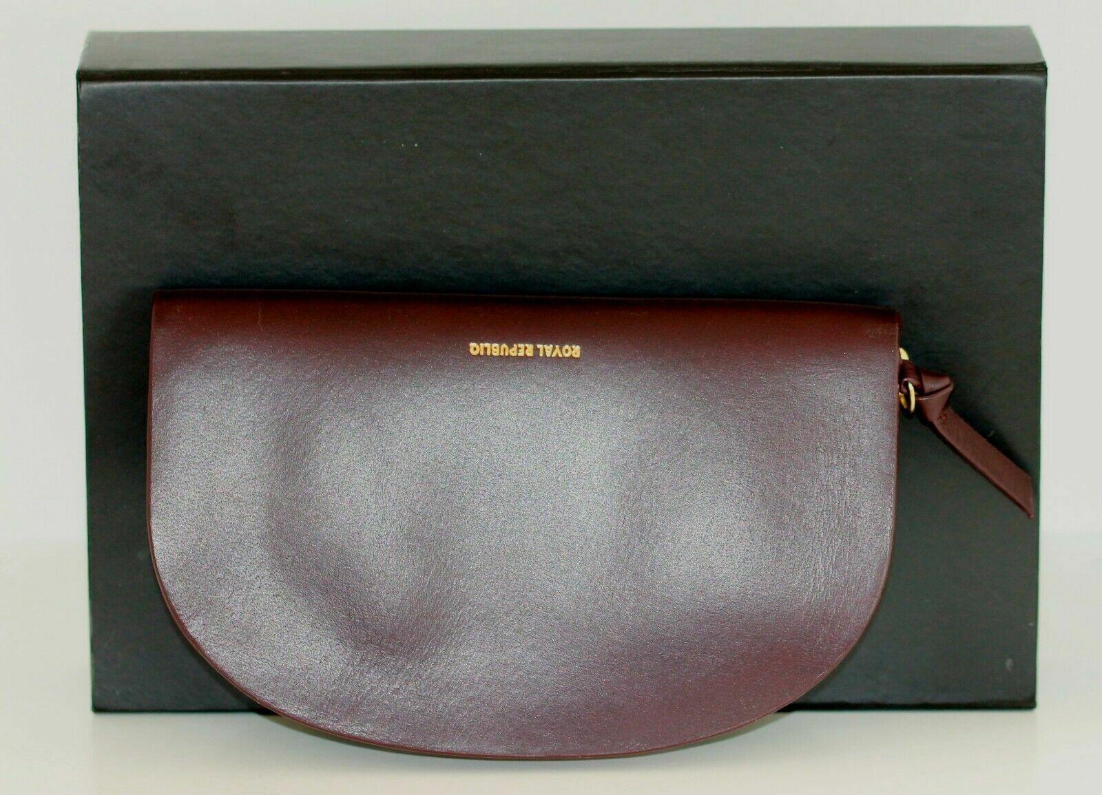 Royal republiq Purse Leather 'Galax curves' Bordeaux NWT