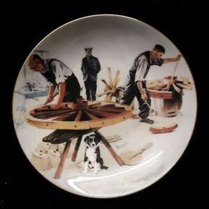 Coalport-Rural-Crafts-The-Wheelwright-Fine-Bone-China-Display-Plate
