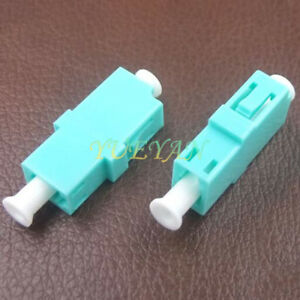 10pcs-10-million-LC-OM3-Simplex-Adapter-without-ear-Optical-Fiber-Connector