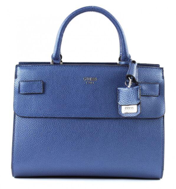8623f6ed0aa7d GUESS Cate Satchel Umhängetasche Handtasche Schultertasche Tasche Navy Blau