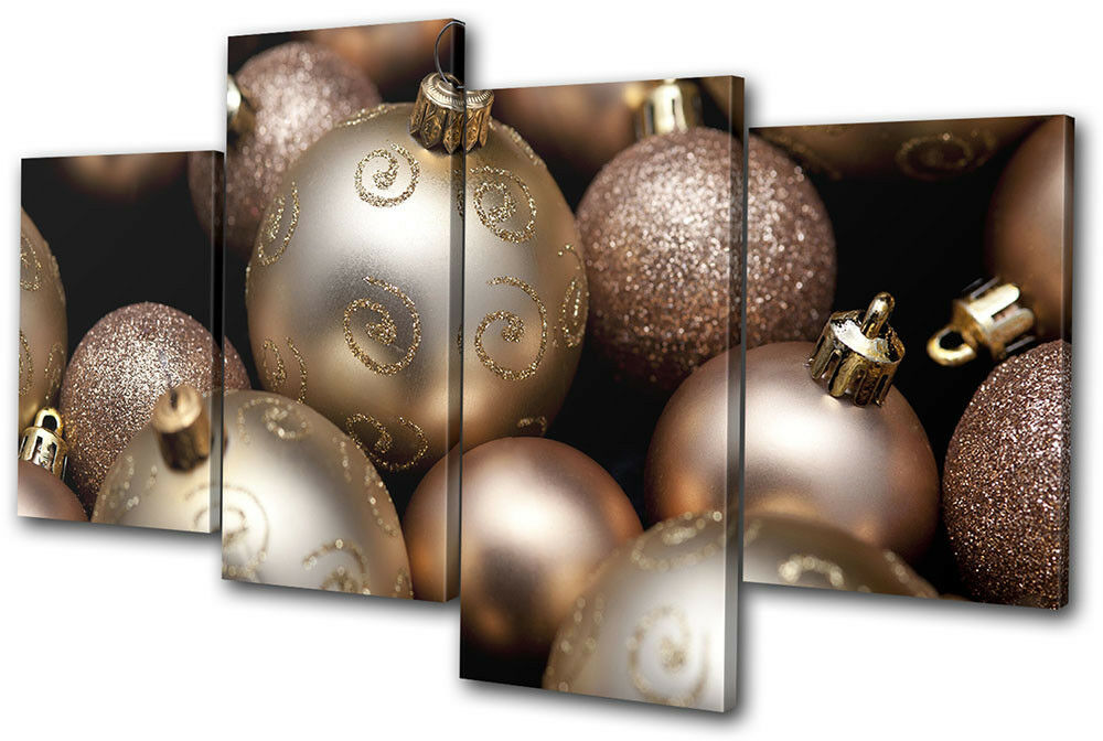 Baubles Decorations Christmas MULTI TELA parete arte foto stampa stampa stampa b353f1