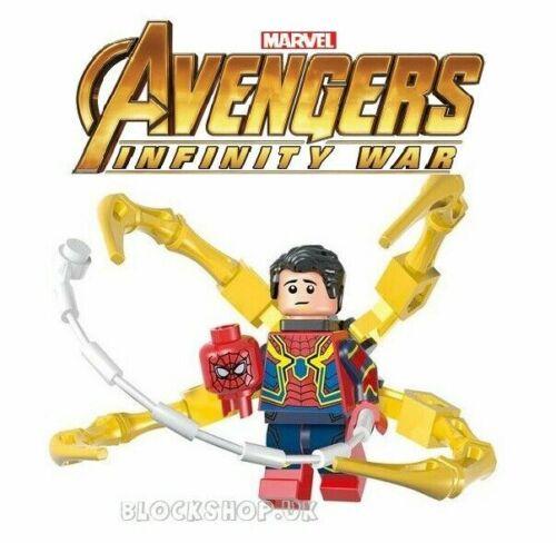 IRON SPIDER MARVEL MARVEL INFINITY WARS SPIDERMAN fits lego figure V19