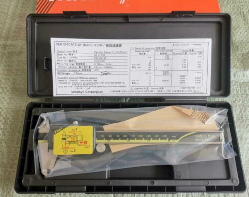 "0-6/""// 0-150mm Absolute Digimatic Caliper Mitutoyo 500-196-30 0.0005/""//0.01 NEW"