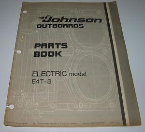 Parts-Catalog-Book-Johnson-Outboards-Electric-model-E4T-S-ET-Katalog-08-1974