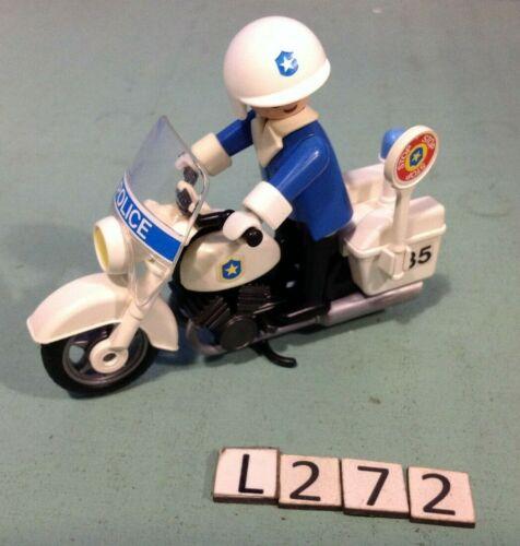 playmobil moto de Police vintage ref 3564 L272