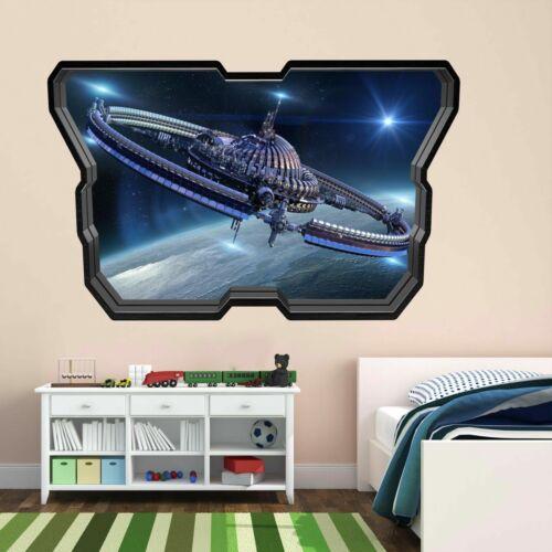 Nave espacial futurista Pared Arte Calcamonía Mural Decoración Para El Hogar Oficina Dormitorio de Niños AY11