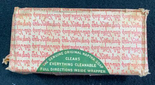 Vintage Fels Naptha Soap bar SEE NOTES unopened original wrapper but damaged