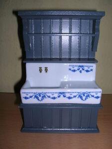 Reutter Porzellan Kitchen Sink Blue Empty Kitchen Sink Wood Blue 1