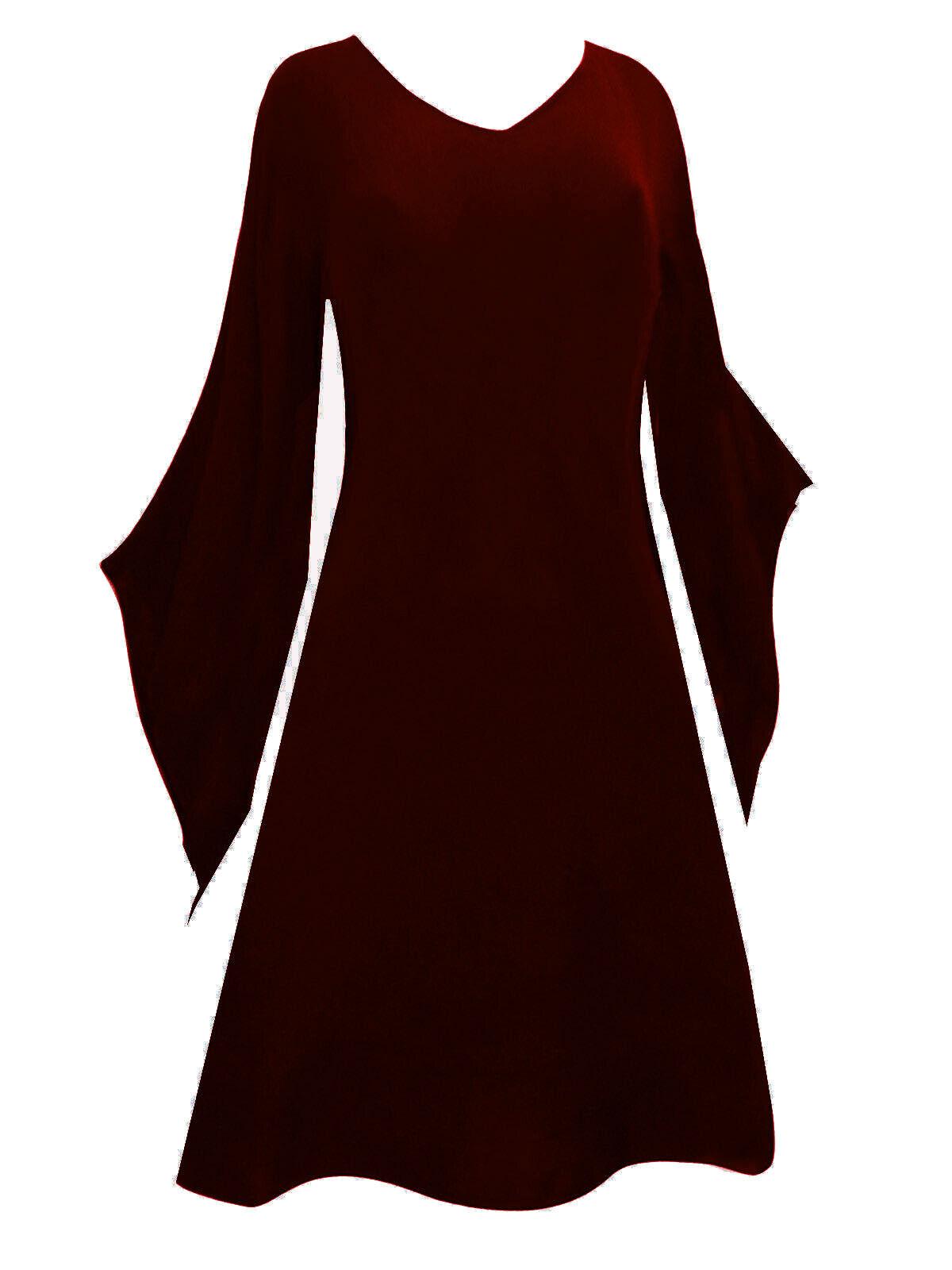 Mittelalter Zipfel Top Oberteil Mini Kleid Rubin red Übergröße 44 46 48 50 52 54