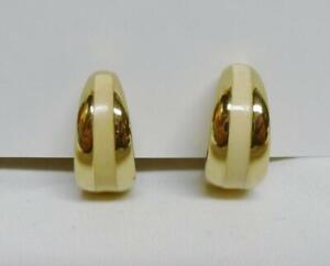 Half Hoop Enamel Radiant Orchid Gold Clip Earrings