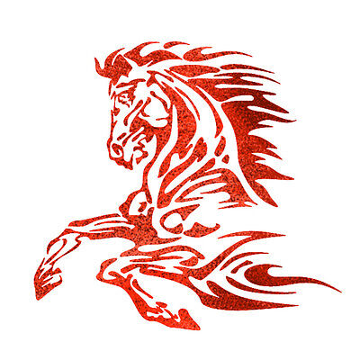 Flames Stencils - Airbrush Template Flame Horse for Tatoo RC Car paint Roller