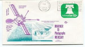 1974 Mariner 10 Photographs Mercury First Encounter Pasadena Venus Station Sat