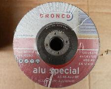 """10x Dronco Alu Special 100mm 4"""" Grinding Discs Aluminium and Non Ferrous Metals"""