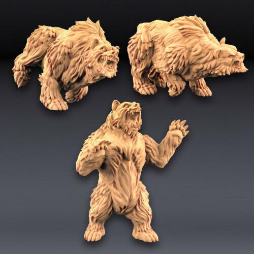 Giant Bears 32 or 28mm Fantasy Miniature Warhammer D/&D Artisan Guild Tabletop