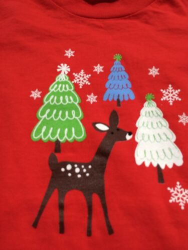 Girls Boutique 3T Flap Happy Red Reindeer Shirt NEW NWT Christmas Holiday