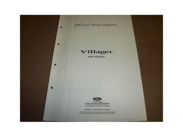 1993 Mercury Villager Wiring Diagrams Set